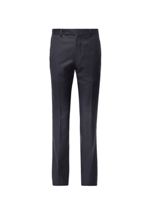 Wacko Maria - Slim-Fit Striped Wool Trousers - Men - Blue