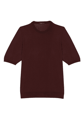 Bordeaux Mako Cotton Crew Neck Tee Shirt
