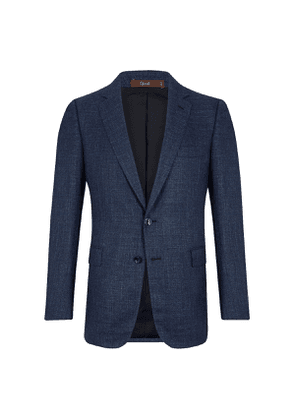 Blue Linen Marbeuf Single Breasted Jacket