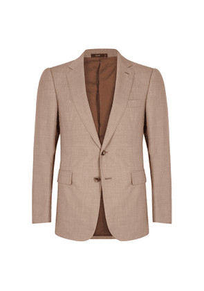 Tan Single Breasted Two-Piece Suit