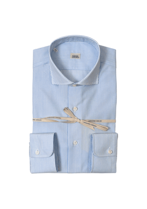 Light Blue Striped Super Fine Cotton Shirt