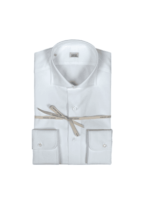 White Poplin Cotton Slim Fit Shirt