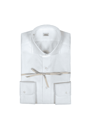 White Oxford Cotton Slim Fit Shirt