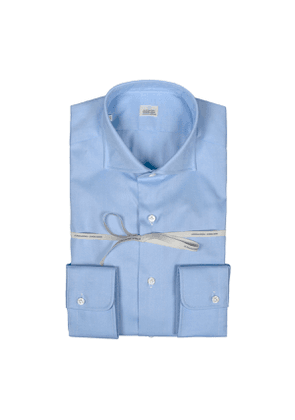 Light Blue Oxford Cotton Slim Fit Shirt