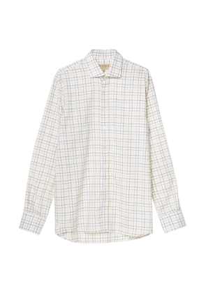Men's Exploded Check Shirt in Gold