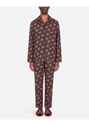 Dolce & Gabbana Loungewear Collection - Miniature rose-print pajama set with matching face mask FLORAL PRINT male 50