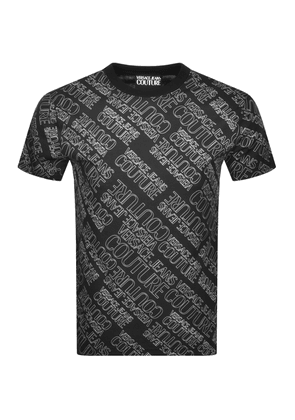 Versace Jeans Couture Logo Slim Fit T Shirt Black