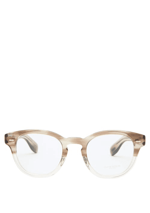 Oliver Peoples - Cary Grant Round Acetate Glasses - Mens - Beige