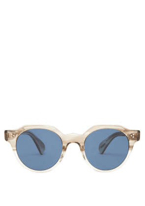 Oliver Peoples - Irvin Round Acetate Sunglasses - Mens - Clear