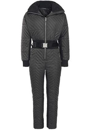 Fusalp Rebecca Belted Quilted Ski Suit Woman Dark gray Size 36