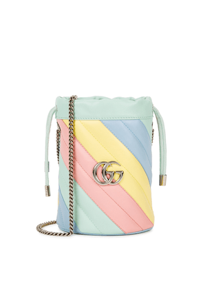 Gucci GG Marmont Colour-block Leather Bucket Bag