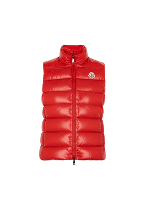 Moncler Ghany Red Quilted Shell Gilet