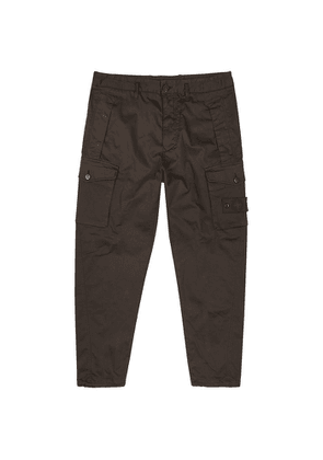 Stone Island Ghost Brown Cotton-blend Cargo Trousers