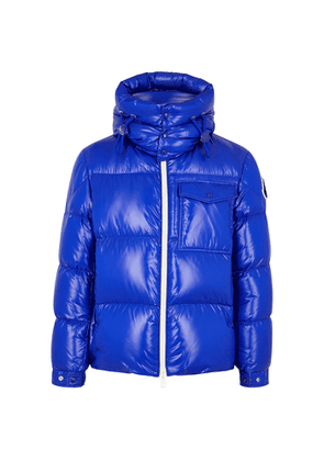 Moncler Vignemale Blue Quilted Shell Jacket