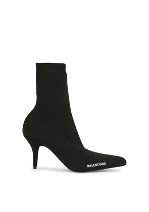 Balenciaga Knife 80 Glittered Stretch-knit Ankle Boots