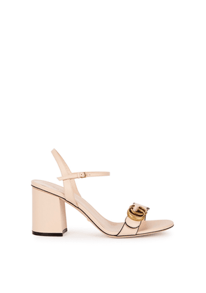 Gucci GG Marmont 75 Blush Leather Sandals