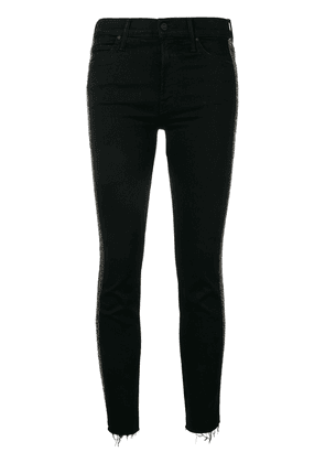 MOTHER The Rascal cropped trousers - Black