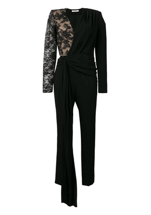 Givenchy lace draped detailed jumpsuit - Black