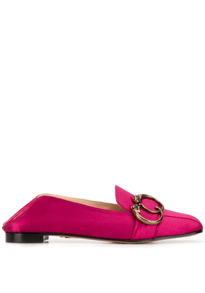 Charlotte Olympia panther buckle loafers - Pink