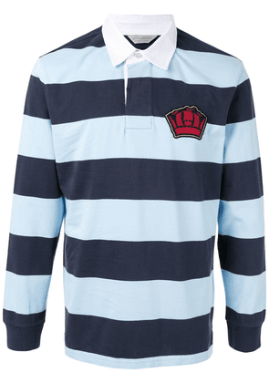 Gieves & Hawkes striped polo shirt - Blue