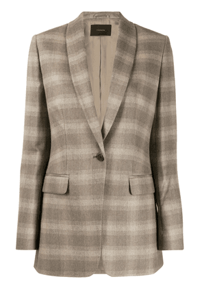 Frenken checked suit jacket - Neutrals