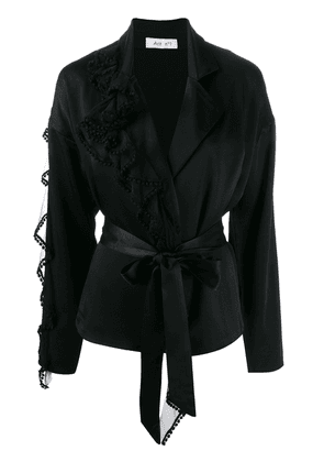 Act N°1 pom-pom trim blouse - Black