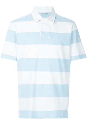 Gieves & Hawkes striped polo top - Blue