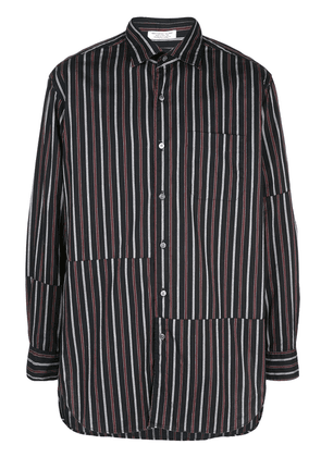 Engineered Garments asymmetric stripe shirt - Blue