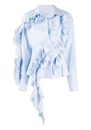 Act N°1 ruffle trimming shirt - Blue