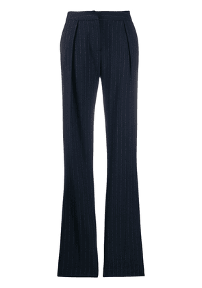 Act N°1 flared pinstripe trousers - Blue
