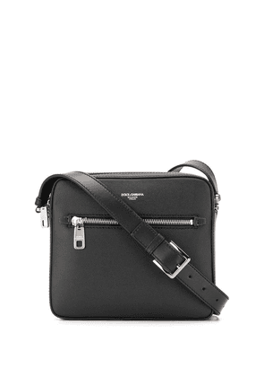 Dolce & Gabbana embossed logo crossbody bag - Black