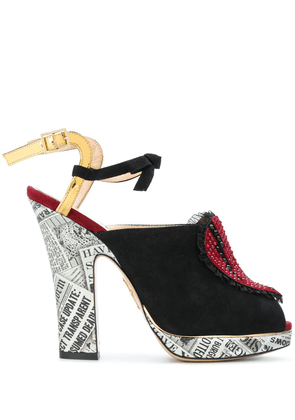 Charlotte Olympia ankle length sandals - Black