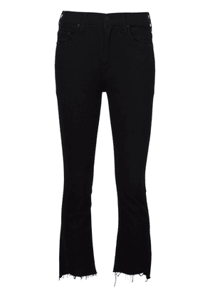 MOTHER Insider high-rise cropped jeans - Black