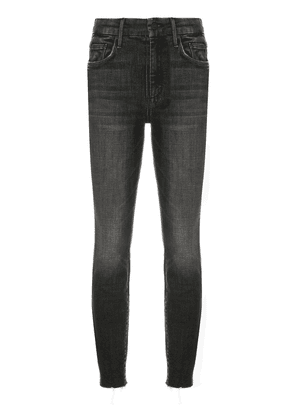 MOTHER raw-cuffs cropped jeans - Black