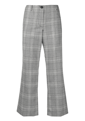 Aalto cropped checked flared trousers - Grey