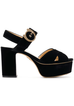 Charlotte Olympia buckle sandals - Black