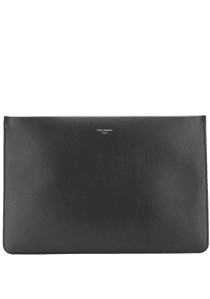 Dolce & Gabbana embossed logo clutch - Black