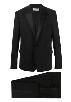 Saint Laurent silk-trimmed tuxedo jacket - Black