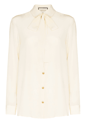 Gucci pussy bow blouse - Neutrals