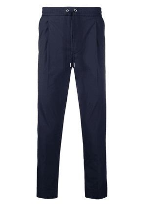 Moncler tapered drawstring trousers - Blue
