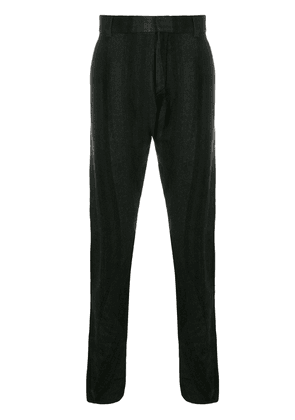 Devoa striped straight-leg trousers - Black