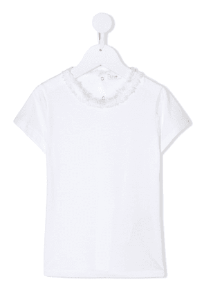 Il Gufo contrast collar short-sleeved T-shirt - White