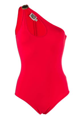 Fausto Puglisi cut-out detail asymmetric bodysuit - Red