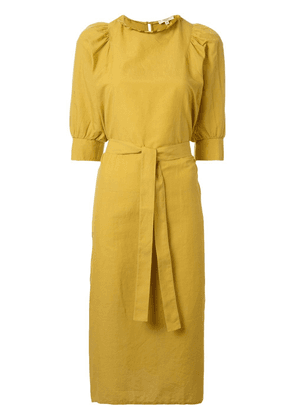 Atlantique Ascoli belted day dress - Yellow