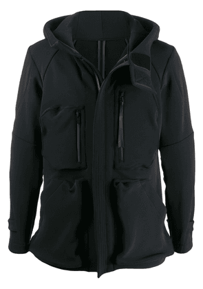 Devoa multi-pocket hooded jacket - Black