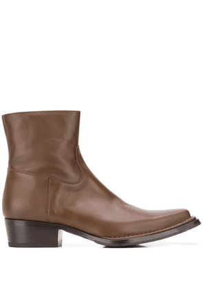 Acne Studios square-toe ankle boots - Brown