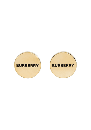 Burberry Engraved Gold-plated Cufflinks