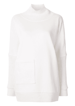 Elie Tahari Reeve roll neck jumper - White