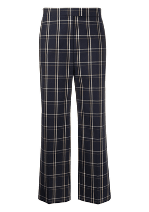 Frenken checked trousers - Blue