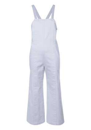 Apiece Apart cropped dungarees - Blue